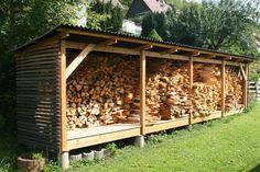 G. K. Sverigehus GmbH - Echte Schwedenhäuser in Stuttgart, Baden-Württemberg und Umgebung Firewood Shed, Firewood Storage, Wood Storage Sheds, Log Shed, Indoor Outdoor Fireplaces, Wood Store, Lean To, Fireplace Design, Outdoor Projects