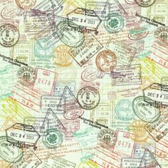 Passport stamp scrapbook paper download…