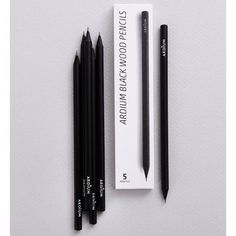 Ardium Black wood pencil set of 5 by Ardium. The Black wood pencil set is a simple and well made set of pencils. A purchase includes 5 pencils.