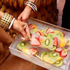 65 Delicious Tropical Wedding Food And Drink Ideas Food and drinks are an important part of every celebration, and if you are planning a tropical wedding, you can choose something special and serve it to highlight… Related posts: No related posts. Fruit Popsicles, Healthy Popsicles, Homemade Popsicles, Do It Yourself Food, Tropical Party, Tropical Fruits, Summer Treats, Summer Recipes, Fruit Recipes