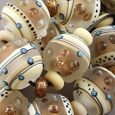 Magma Beads ~Earth Treasures Minis~ Handmade Lampwork Beads.