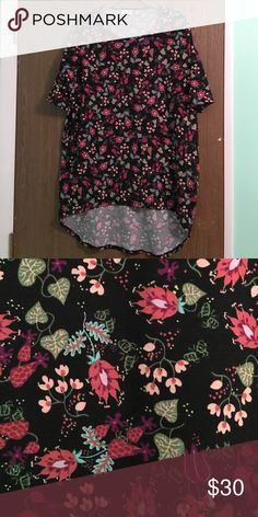 EEUC LULAROE FLORAL IRMA XS floral Irma worn and washed once per LLR guidelines LuLaRoe Tops