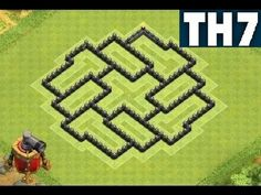 Clash of Clans Town Hall 7 Defense TH7 BEST Hybrid Base With Air Sweeper...