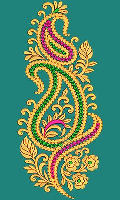 Border Embroidery Designs, Hand Work Embroidery, Creative Embroidery, Indian Embroidery, Hand Embroidery Patterns, Machine Embroidery Designs, Embroidery Stitches, Gold Embroidery, Hand Work Blouse Design
