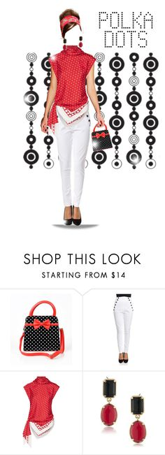 """""""dots 💣"""" by gulokmini ❤ liked on Polyvore featuring Tommy Hilfiger, Monse and 1st & Gorgeous by Carolee"""