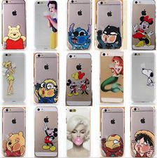 Nueva moda lindo Cartoon posterior Funda Para Apple Iphone 4s 5 5s 5c 6/6 Plus