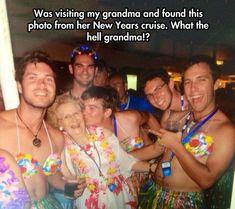 My Grandma New Years Cruise Photo. What The Hell ? .... Me in 60 years