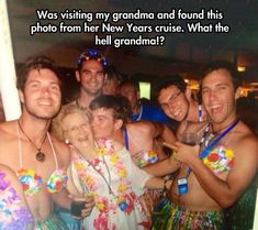 My Grandma New Years Cruise Photo. What The Hell ? .... Me in 60 years