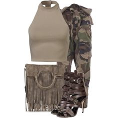 A fashion look from September 2015 featuring zip pants, buckle shoes and fringe tote. Browse and shop related looks.