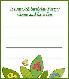 templates printable free free printables 7th birthday party printables birthday party invitations letters letter