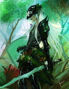 """Guild Wars 2 fanart """"Sylvari Guardian"""" [Artist: Katrina Lin]"""