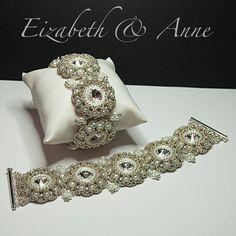 Elizabeth and Anne  Swarovski Rivoli and Pearl by Crystalstargems
