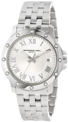 Raymond Weil Tango Stainless Steel Mens Watch Silver Dial Calendar 5599-ST-00658 - http://uhr.haus/raymond-weil/raymond-weil-tango-stainless-steel-mens-watch-st
