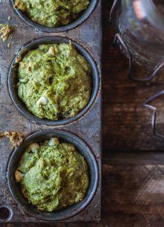 muffins au thé vert & chocolat blanc | white chocolate & green tea muffins