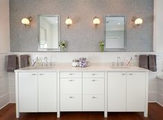 Superb kohler medicine cabinets in Bathroom Transitional with Elegant Bathroom next to Penny Tile alongside White Vanity and Bathroom Beadboard Ideas