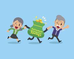 Cartoon Retirement Savings