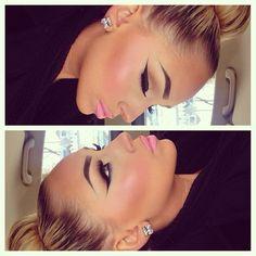 Her eyebrows and eye makeup>>>>