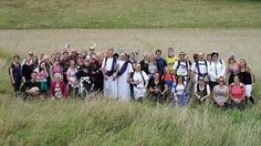 Catching our breath during our charity trek, to raise cash for the Royal Marsden Cancer Charity