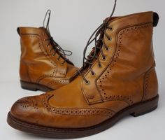 "These are burnished walnut leather Allen Edmonds Dalton Boots in size 10 D. The outsole is 12 1/8"". They fit true to size. Allen Edmonds has been making shoes in America for nearly 100 years using fine leathers, a 212-step crafting process and 360° Goodyear welt construction to allow for recrafting to extend the life of the shoe. 