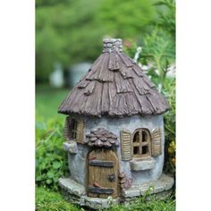 Nutty Nook Fairy Cottage with hinged door Fairy Garden Miniature House