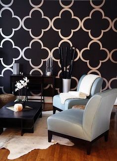Ideas Bedroom Black Wallpaper For 2019 Living Room, House Design, Room, Black Wallpaper, Interior, Home, House Styles, House Interior, Interior Design