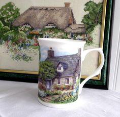 Mug Adderley English Hill Cottage And Garden Bone China New