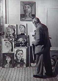 Picasso by Brassaï http://actualites34.blog.lemonde.fr/2007/07/03/brassai-34/