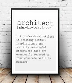 DEFINITION OF ARCHITECT Funny Wall Art Printable Definition Name Definition…