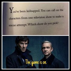 Duhh. It\'d be these two. #Sherlock #Watson << Hell, I don\'t know I can\'t decide between SuperWhoLock :D