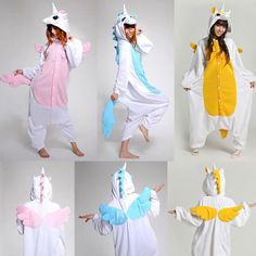 Unicorn Kigurumi Pajamas Animal Costume Anime Cosplay Adult Pyjamas  Sleepwear  Sleepwear  KigurumiPajamas Unicornio Onesie 58f1bcd87767e