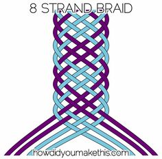 8 Strand Flat Braid - How Did You Make This? | Luxe DIY