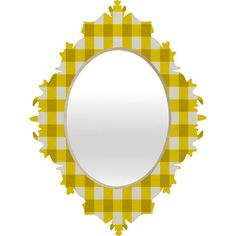 Holli Zollinger Yellow Gingham Baroque Mirror