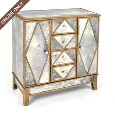 Antiqued Mirror Cabinet #kirklands #eclecticelegance