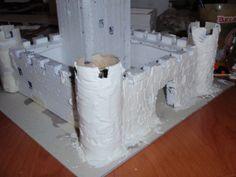Cómo hacer un castillo para el belén con tubos de papel higiénico