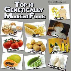 Top 10 #GMO Foods