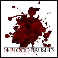 Blood - Download  Photoshop brush http://www.123freebrushes.com/blood-2/ , Published in #BloodSplatter, #GrungeSplatter. More Free Grunge & Splatter Brushes, http://www.123freebrushes.com/free-brushes/grunge-splatter/ | #123freebrushes