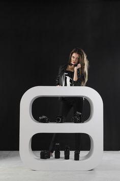 Signalement Handmade Furniture Signalement by Danish designer Peter Christian Nicolai Petersen and c Handmade Furniture, Home Decor Furniture, Furniture Design, Furniture Ideas, Contemporary Desk, Minimalist Furniture, Grey Chair, Shelf Design, Shelves