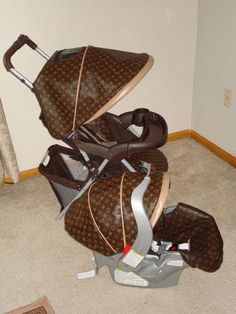 Louis Vuitton Baby Stroller | Custom design carseat and strollers