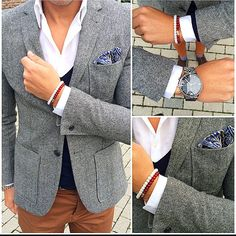 Ranked Number 1 Tailored Suit - Shop Chicerman's dapper collection of Men's Suits, Jackets, Slacks, Shirts, and Ties. Custom clothing for the modern man. Gents Fashion, Mens Fashion Blog, Fashion Tips, Smart Casual, Men Casual, Formal Pants, Tailored Suits, Formal Looks, Men Style Tips