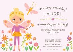 Magical garden birthday party invitation fairy cake butterflies fairy garden birthday party invites by elline filmwisefo Images