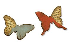 *Tim Holtz Sizzix Die MINI BUTTERFLIES Movers & Shapers 657209 Alterations