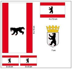 Aufkleber Set Berlin NEU Fahne Flagge