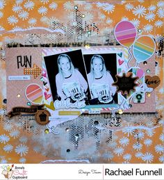 Our gorgeous DT extraordinaire Rachael @rachaelfunnell has produced another beautiful layout. This month she is using the Fancy Pants - Joy Parade collection @fancypantsdesigns #scrapbooking #annascraftcupboard #annasDTextraordinaire #annasdtmember #scrapbookinglayout #mixedmedia