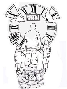 Half Sleeve Tattoo Stencils, Half Sleeve Rose Tattoo, Half Sleeve Tattoos Designs, Family Tattoo Designs, Heart Tattoo Designs, Family Tattoos, Rose Tattoos For Men, Small Tattoos For Guys, Small Forearm Tattoos