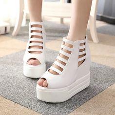 13.25$  Buy here - http://aliifl.shopchina.info/go.php?t=32797089310 - Shoes Women Flatform Sandals Peep Toe Ladies Rome Sandals Womens Increased Shoes Sandalia Feminina Sapatos Feminino Chaussures 13.25$ #buyininternet
