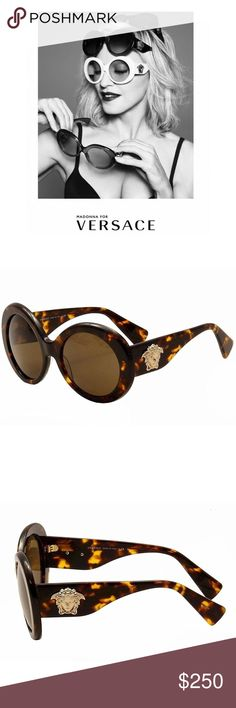f296010316 Versace Medusa sunglasses — brown round circle Versace sunglasses brown  tortoise sunglasses— same style as