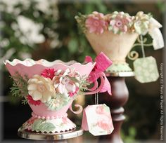 Love these paper tea cups, would look amazing if they were real! 3d Paper Projects, 3d Paper Crafts, Paper Art, Diy And Crafts, Craft Projects, Projects To Try, Decoration Communion, Paper Tea Cups, Teacup Crafts
