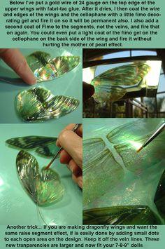 Making butterfly Fairy wings