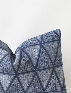Mara Cushion / Indigo Denim / susan connor new york