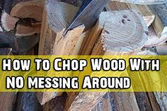 How To Chop Wood With NO Messing Around ▬ Please visit my Facebook page at: www.facebook.com/jolly.ollie.77